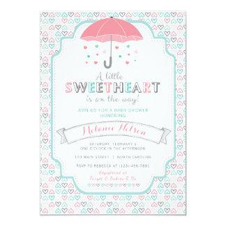 Valentine's Sweetheart Baby Shower Invitation