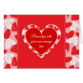 "Valentine's ""With Love"" Hearts 2 - Customise Card"