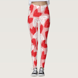 "Valentine's ""With Love"" Hearts Leggings"