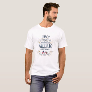Vallejo, California 150th Anniv. White T-Shirt
