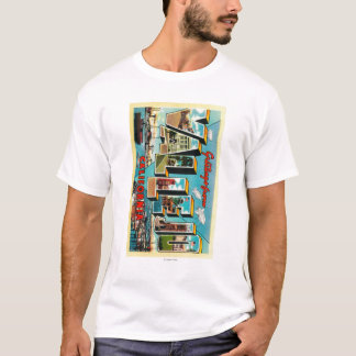 Vallejo, California - Large Letter Scenes T-Shirt