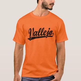 Vallejo script logo in black distressed T-Shirt
