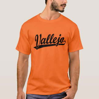 Vallejo script logo in black T-Shirt