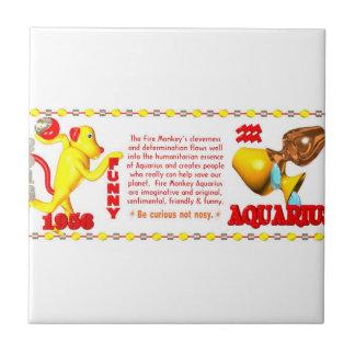 Valxart 1956 2016 2076 FireMonkey zodiac Aquarius Tile