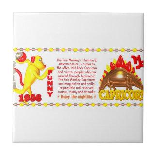 Valxart 1956 2016 2076 FireMonkey zodiac Capricorn Ceramic Tiles
