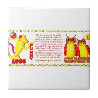 Valxart 1956 2016 2076 FireMonkey zodiac Gemini Tile
