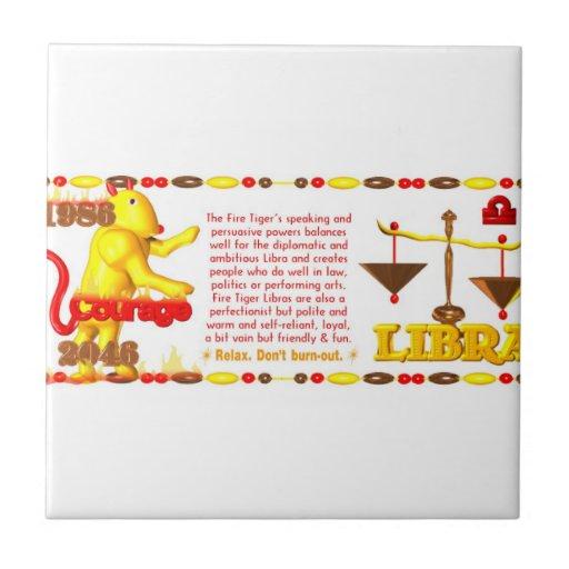 Valxart 1956 2016 2076 FireMonkey zodiac Libra Tile