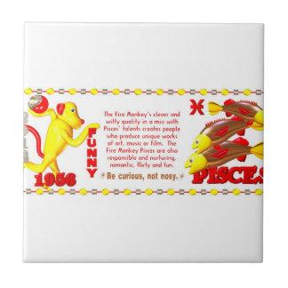 Valxart 1956 2016 2076 FireMonkey zodiac Pisces Ceramic Tile