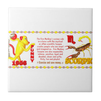 Valxart 1956 2016 2076 FireMonkey zodiac Scorpio Ceramic Tile