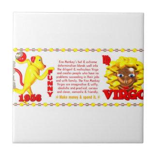 Valxart 1956 2016 2076 FireMonkey zodiac Virgo Ceramic Tile