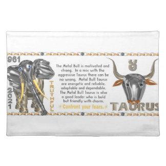 Valxart 1961 2021 MetalBull zodiac Taurus Placemat