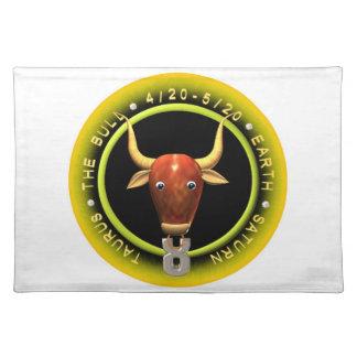 Valxart Taurus zodiac logo Placemat