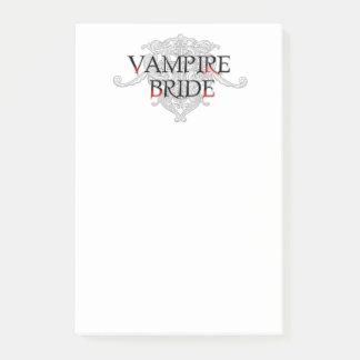 Vampire Bride Post-it Notes