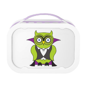 Vampire Halloween Owl Lunch Box
