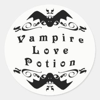 Vampire Love Potion Halloween Classic Round Sticker