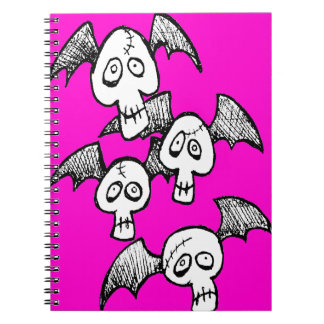 Vampire Skulls Spiral Notebook