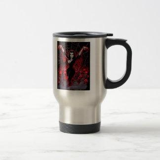 Vampire Woman Spider web gothic Travel Mug