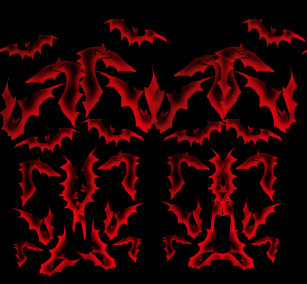 16833dc42c93 Vamplife Blood Red Ghostly Bats (NoText) Leggings