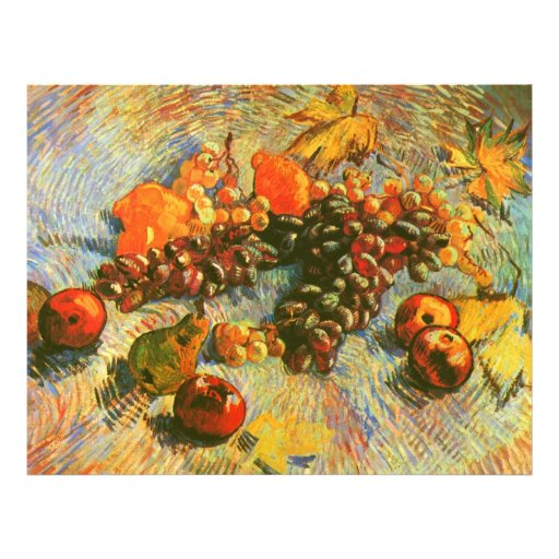 Van Gogh Apples Pears Lemons Grapes (F382) Personalized Flyer