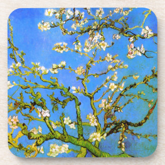 Van Gogh: Blossoming Almond Tree Branches Beverage Coasters