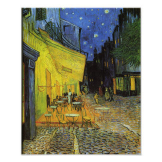 Van Gogh; Cafe Terrace at Night Photographic Print