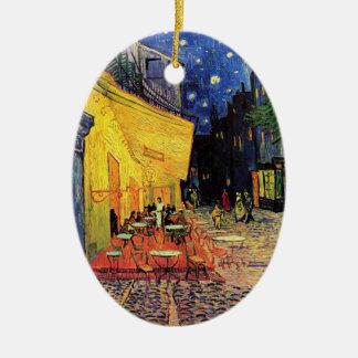 Van Gogh Cafe Terrace (F467)  Fine Art Ceramic Oval Decoration
