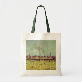 Van Gogh Factories at Asnieres, Vintage Fine Art Tote Bag