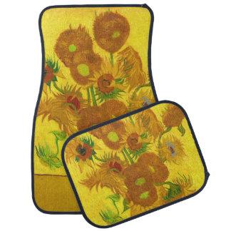 Van Gogh Fifteen Sunflowers In A Vase Fine Art Car Mat