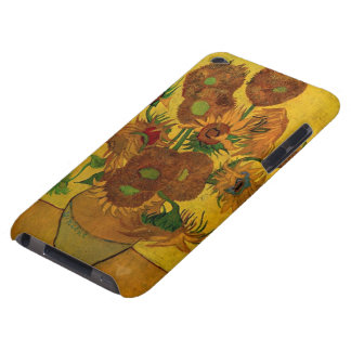 Van Gogh Fine Art Flowers, Vase with 15 Sunflowers Barely There iPod Covers