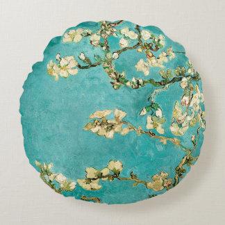 Van Gogh Floral Almond Tree Round Cushion