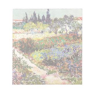 Van Gogh Flowering Garden At Arles Floral Fine Art Notepad