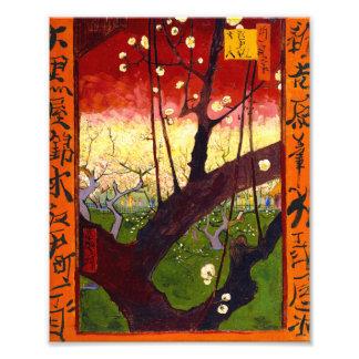 Van Gogh Flowering Plum Tree After Hiroshige Photograph