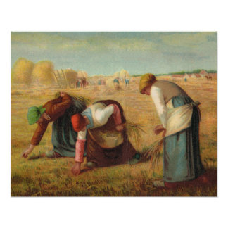 Van Gogh, Gleaners in the fields Poster