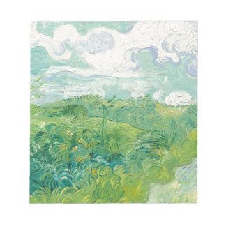 van Gogh Green Wheat Fields Notepad