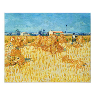Van Gogh; Harvest in Provence Photographic Print