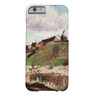 Van Gogh Hill of Montmartre with Quarry, Fine Art Barely There iPhone 6 Case