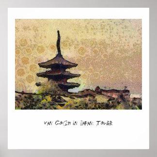Van Gogh in Japan: Tower Poster