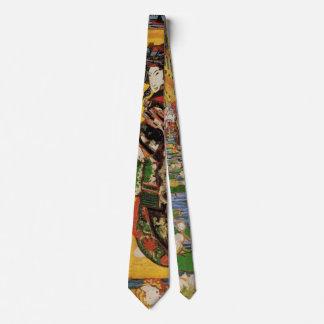 Van Gogh Japanese Courtesan Oiran Vintage Portrait Tie