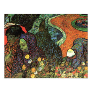 Van Gogh; Memory of the Garden, Etten, Vintage Art Personalized Invite
