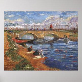 Van Gogh Poster Glerie Bridge over the Vigeirat Ca