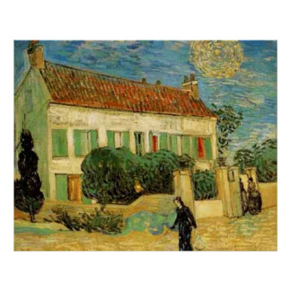 Van Gogh Poster White House at Night