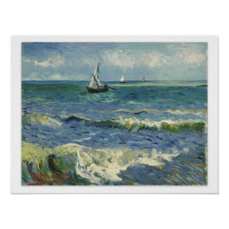Van Gogh Seascape Poster
