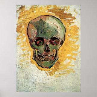 Van Gogh Skull Vintage Impressionism Still Life Print