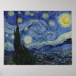 Van Gogh Starry Night Canvas Poster