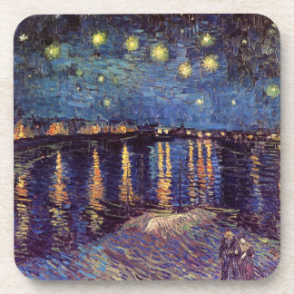 Van Gogh Starry Night Over the Rhone, Fine Art Coaster