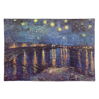 Van Gogh Starry Night Over the Rhone, Fine Art Placemat