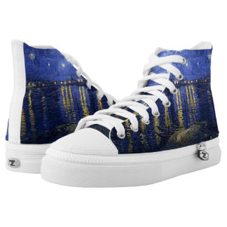 Van Gogh: Starry Night Over the Rhone Printed Shoes