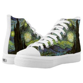 Van Gogh: Starry Night Printed Shoes