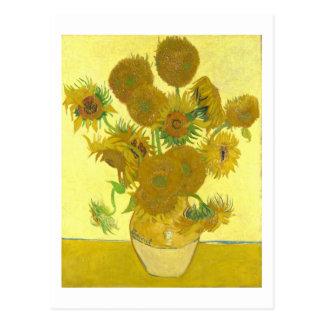 Van Gogh | Sunflowers I | Change of Address Postcard