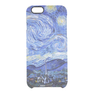 Van Gogh The Starry Night Clear iPhone 6/6S Case